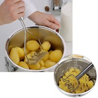 potato - Kitchen Gadgets Potato Mud Pressure Mud Machine Potatoes Masher Pressure Mashed Potatoes Device Fruit Vegetable Tool H15621