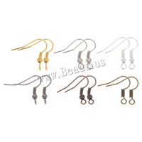 Wholesale Fish Dangle Metal Iron Earring Clasps Hooks Lever Back Earring Wires Fittings DIY Jewelry Findings Accessories
