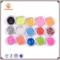 Wholesale 12 colors of glitter dust collector Nail Tips Decoration Crafts DIY