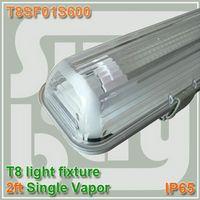 aluminum fluorescent bulbs - 600mm Vapor Tight Lamp ft One Bulb T8 T10 Fluorescent Light Fixture IP65 vapor