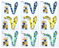 badge cord - New color New Despicable Me minions ID Badge Holder Clear Border Color cords cellphone Lanyard Neck Strap Man