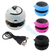 Wholesale 4 Color Cheaper Portable Pocket Mini Hamburger Speaker For iPad For iPod For iPhone For Laptop MP3 Audio Amplifier CB024991