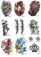 rose tattoos - Temporary Arm Tattoos waterproof Big sex products makeup tattoo body art henna tatouage pc Skull Rose pocket watch