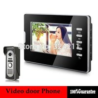 Wholesale New Home Color Video door Phone Doorbell Intercom System inch LCD Monitor Handfree TVL IR Camera A5