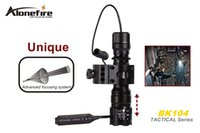 Wholesale SKU1174 AloneFire BK104 Tactical Series CREE XM L T6 LED mode Professional Zoom tactical flashlight torch lamp