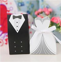 candy box - 200pcs Bride and Groom candy Box Bride and pcsGroom Wedding Favor Boxes Gift box Candy box