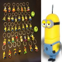 Christmas gift Fashion Accessories Rubber 3D Despicable Me Keychains Couple chains Designer keychains DH SR-A198 Children's toys Halloween gifts Christmas gift Wedding key chains