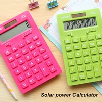 Wholesale Solar power Calculator Colored electronics textbooks calculadora financeira Stationery office material School supplies