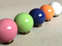CHC073 kitchen cabinet hardware - Knobs Kitchen Cabinet Knobs Dresser Knob Drawer Knobs Pulls Handles Ceramic Blue White Orange Green Pink Antique Bronze Decorative Hardware