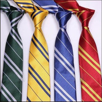 Wholesale Harry Potter Necktie Gryffindor Slytherin Ravenclaw Hufflepuff Costume Accessory