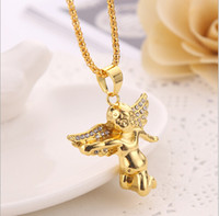 Wholesale WesternRain Chirstmas Fashion Jewelry Delicate Pendant Necklace Gold Angel Star Hiphop Necklaces Men women High Quality Necklace J754