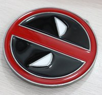 Wholesale Promotions Brand New Red Deadpool Belt Buckle Marvel Anti Hero Super Villain Newly Style Fashion Belt Buckle