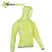 Wholesale Cycling Jerseys ROCKBROS MTB Waterproof Outdoor Sports Windproof TPU Raincoat Cycling Jersey Wind Coat Bike Bicycle Raincoat Colors