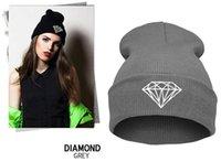 sombrero de diamantes otoño invierno de las mujeres hizo punto la gorrita desgarbado, España gorros mujer capó, cráneo Chunky Baggy cabeza caliente Cap, envío libre de DHL