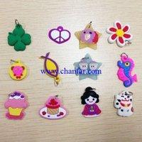Wholesale 200pcs bag Rubber charms pendant fit children Jewelry random mixed color