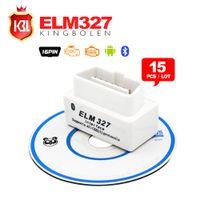 Wholesale 15PCS Factory Price Super mini ELM327 Bluetooth Support All OBD II OBD Protocol ELM BT