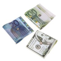 Wholesale Novelty Money US Dollar Gag Door CASH Stops Euro Yen Currency DoorStops K5BO