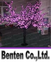 Wholesale LED cherry tree light pink LED with m leds cherry flowers led christmas tree light LLFA4590F