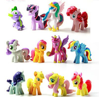 Wholesale My Little Pony Action Figures Cartoon Friendship Is Magic Cute PVC Cartoon Toys Action Figures set in stock