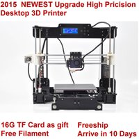Wholesale 2015NEW Upgrade desktop D Printer Repap Prusa i3 Acrylic Frame LCD Kg Filament G TF Card for gift Fast ship Free