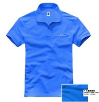 Wholesale 3 colours summer mugen power HKS car modification collar men s short sleeve POLO shirts high quality Customized shirt