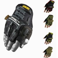 Wholesale MECHANIX M Pact Half finger Glove For Racing Airsoft Paintball Survival Hunting Cycling Riding Camping Mountaineering Gloves