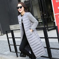 mink cashmere - Europe winter warm new slim down coat Female Long Maxi mink cashmere coat cotton stitching