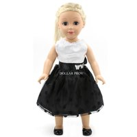Wholesale Hot sell new arrival inch american girl doll clothes of white black dress