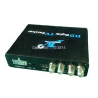 Cheap Car DVB-T2 Receiver Box With Four Tuner and Four Antenna car digital media receiver receiver telephone