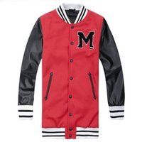 leather jackets for women - 2016 Fashion RIHANNA Varsity Jacket Leather Sleeve Embroidery Letter Long Letterman Baseball Jacket For Women AY545