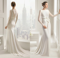 autumn rose wedding - 2015 New Style Rose Clara Wedding Dresses from Eiffelbride with Sexy Jewel Neckline and Glamorous Illusion Long Sleeve Mermaid Bridal Gowns