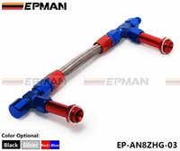 Wholesale EPMAN AN8 AN Dual Feed Fuel Line Dual Feed Carb Fuel Line Kit Color blue with red EP AN8ZHG