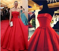 arizona silver - Elegant Arizona Muse Red Carpet Formal Celebrity Dresses Satin Evening Gowns Sash A Line Train Long Prom Party Strapless Real Photos