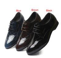 Wholesale Super Shine Fashion Style Colors Groom Shoes Men s Wedding Shoes Leather Shoes Prom Shoes Bridegroom Shoes Groomsman Shoes