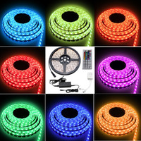 12v lights - Besdata ft M Waterproof Rope Lights LED SMD Color Changing RedGB V A Power Supply Key Remote IR Controller Muliti color