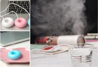 bank usb keyboards - Air Purifier Floating Style Sweet Loop Shaped Mini USB Humidifier Plug Play Works with Computer and Power Bank