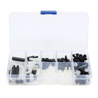 Wholesale New Arrvial M3 Nylon Black White M F Hex Spacers Screws Nuts Assortment Stand off Set Excellent Quality