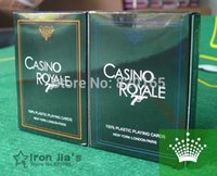 Wholesale CASINO ROYALE New Frosted Plastic Poker Texas Poker Hot selling PC Blue Orange