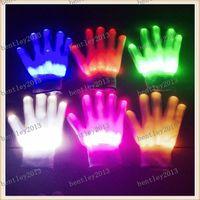 Wholesale LED gloves Flash gloves On the gloves Emphasize entertainment bar DJ luminescence prop