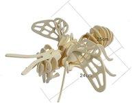El popular regalo de cumpleaños, Little bee rompecabezas de madera 3D DIY niño educativo Inteligencia juguetes modelo de simulación Rompecabezas de madera