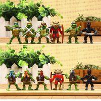Wholesale Hot sale set Teenage Mutant Ninja Turtles TMNT Action Figures Toy Set Keychain Set Classic Collection Christmas Gifts