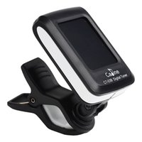 Wholesale LCD Clip on Guitar Tuner For Electronic Digital Chromatic Bass Violin Ukulele Stringed Instruments