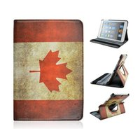 air canada shipping - The Canada Flag Rotating PU Leather Protective Tablet PC Case Cover Holder for iPad Mini Air Air