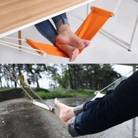 hammock stand - Portable Mini Foot Rest Stand Desk Feet Hammock Easy to Disassemble Home Study Library Outdoor Indoor