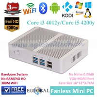 barebone computers - Intel Core i3 Y i5 Y Haswell Nuc Barebone Fanless Mini PCWindows computer K HTPCGraphics HD4200 M Wifi Bluetooth