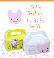 Wholesale 2016 new cute hellokity collapsible mousse cake box Rectangular Portable baking box nice wedding festival small gifts
