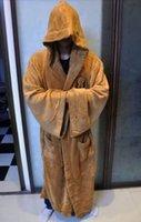 bath knight - New Star Wars Jedi Knight Robe Deluxe Cosplay Bath Robe Sleepwear Brown Color Great Gift