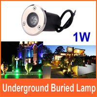 Wholesale 1W Underground Lamps Outdoor Garden Path Floor Buried Yard Lamp Spot Landscape Light Waterproof White warm white green red blue order lt no