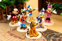 PVC Key Super Mario New Mickey and Minnie Mouse Donald Duck Goofy Clubhouse Figurine Deluxe Figure Set Doll Toy Gift for Children