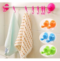 Wholesale Bathroom Kitchen Hat Towel Hanger Over Door Hanging Rack Holder Eight Hooks Hot Sale